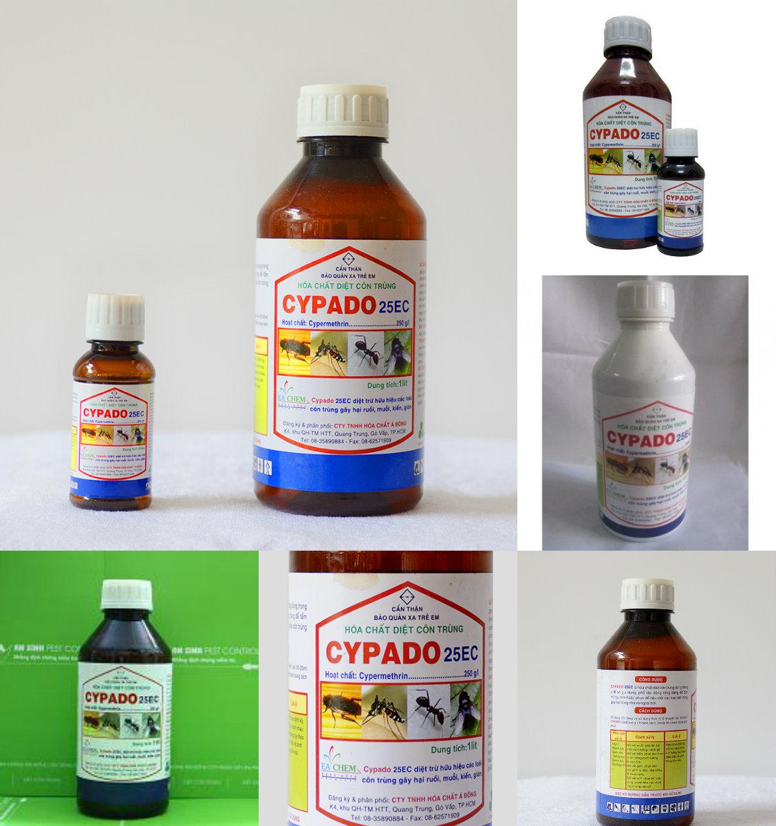 Đây là tất cả các sản Phẩm Thuốc Diệt Côn TRùng CYPADO 25 Ec có hiện nay trên thị trường
